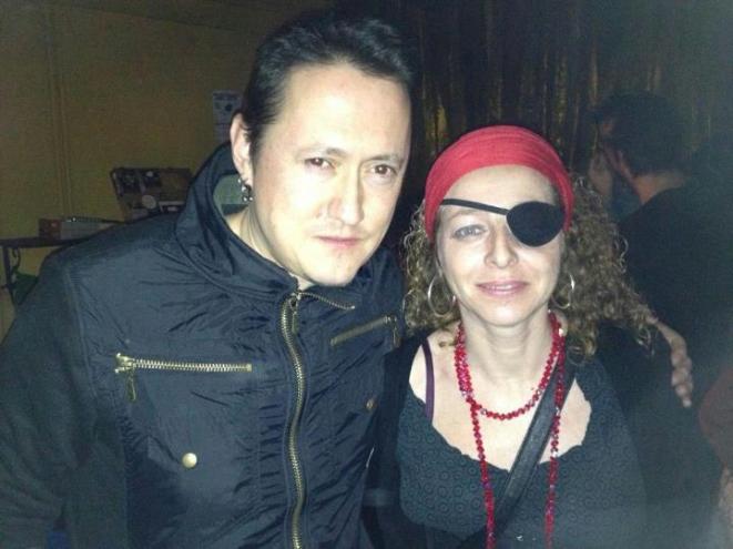 Fermín Muguruza y Ester Quintana ayer en la dub jam Dub Jam Session