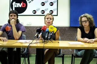 Roda de premsa Ester Quintana després que l'asseguradora de la Generalitat accedeixi a pagar una indemnització